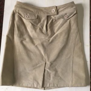 Leather/suede skirt